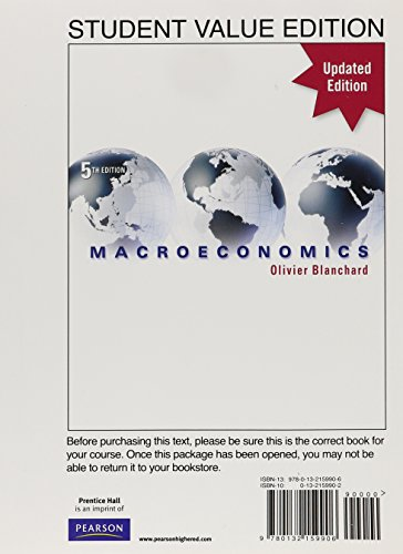 9780132159906: Macroeconomics, Student Value Edition (5th Edition)