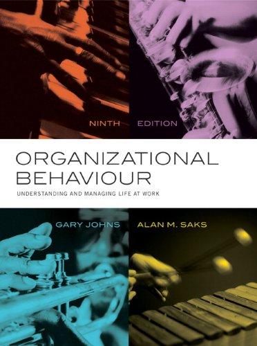 Organizational Behaviour (CANADIAN)(w/out Access Code): Johns