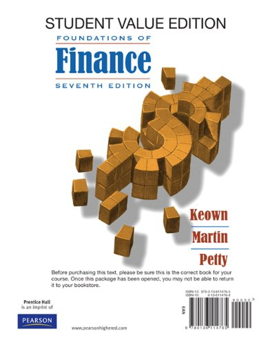 9780132163446: Foundations of Finance: The Logic and Practice of Financial Management, Student Value Edition plus MyFinanceLab Package (7th Edition)