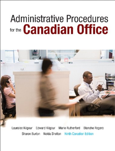 9780132164375: Administrative Procedures for the Canadian Office, Ninth Canadian Edition (9th Edition)