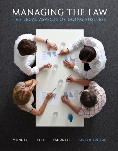Managing the Law : The Legal Aspects: McInnes, Mitchell