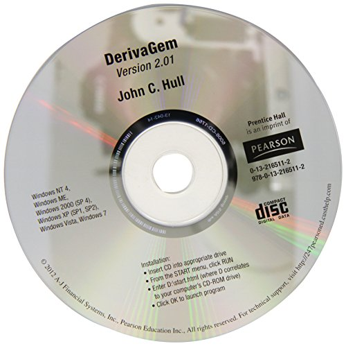 9780132165112: DerivaGem CD for Options, Futures, and Other Derivatives