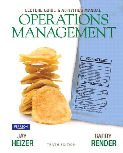 9780132165846: Lecture Guide and Activities Manual for Operations Management Flexible Edition