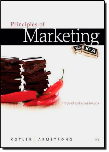 9780132167123: Principles of Marketing (14th Edition)