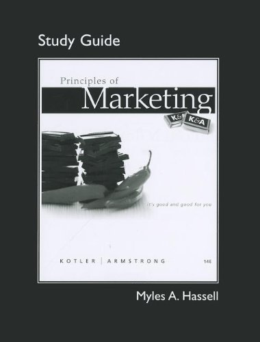 9780132167208: Study Guide for Principles of Marketing