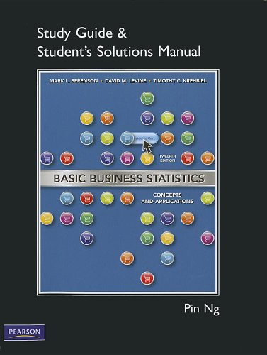 9780132168434: Student Solutions Manual for Basic Business Statistics