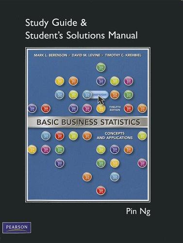 Student Solutions Manual for Basic Business Statistics: Mark L. Berenson,