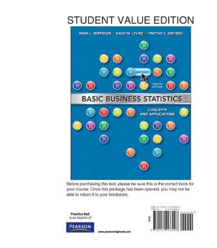 9780132168496: Basic Business Statistics, Student Value Edition (12th Edition)