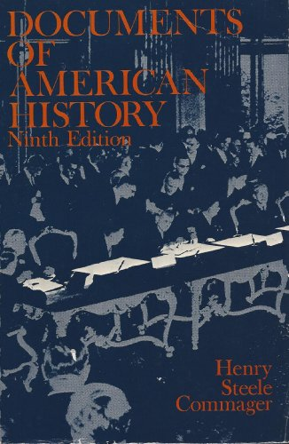 9780132170000: Documents of American History Since 1898