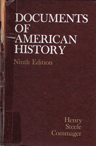 9780132170185: Documents of American History.