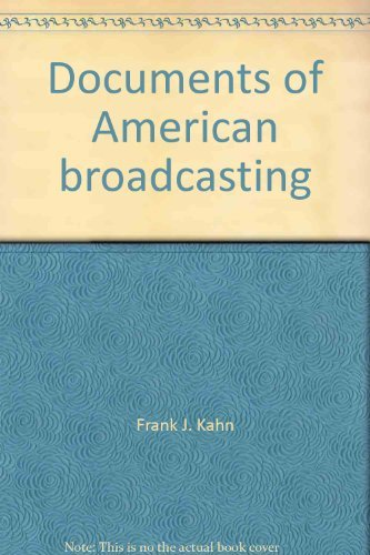 9780132170673: Documents of American broadcasting