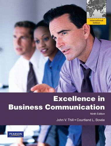9780132171540: Excellence in Business Communication: International Version
