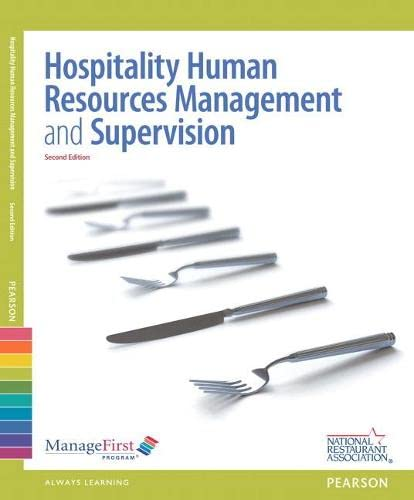 ManageFirst: Hospitality Human Resources Management & Supervision: National Restaurant Association