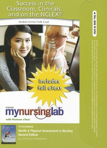 9780132179409: MyNursingLab with Pearson EText -- Access Card -- for Health & Physical Assessment in Nursing