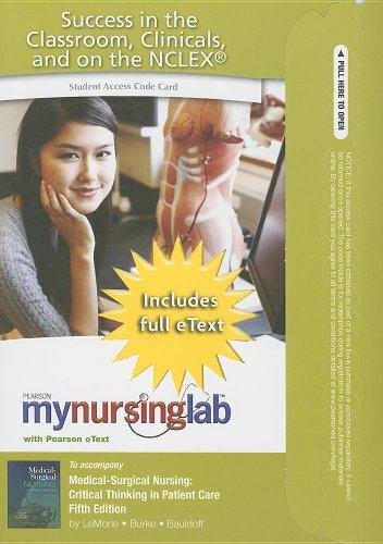 MyNursingLab with Pearson eText -- Access Card: Priscilla LeMone RN
