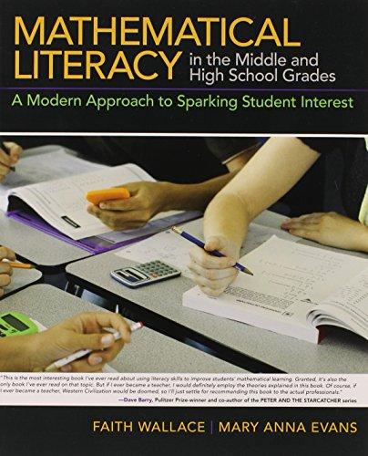 9780132180979: Mathematical Literacy in the Middle and High School Grades: A Modern Approach to Sparking Student Interest
