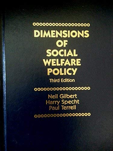 9780132181082: Dimensions of Social Welfare Policy