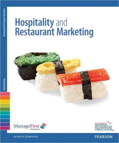 9780132181662: Managefirst: Hospitality and Restaurant Marketing with Answer Sheet