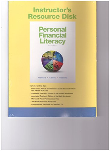 9780132182638: Pearson Instructor's Resource Disk Personal Financial Literacy