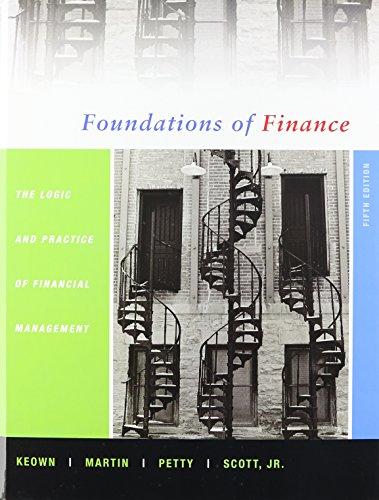 Foundations of Fin Logc&1key Webct S/A Crd: Arthur J. Keown