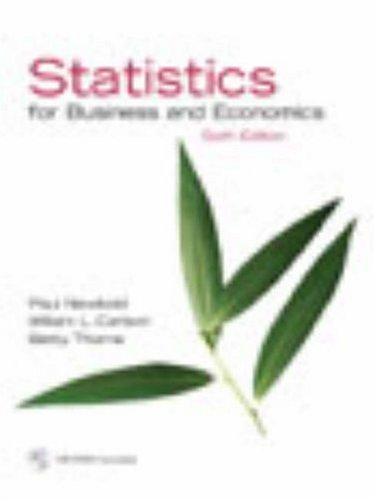 9780132203845: Statistics for Business and Economics and Student CD (6th Edition)