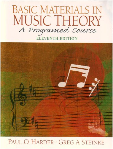 9780132208697: Basic Materials In Music Theory: A Programed Course