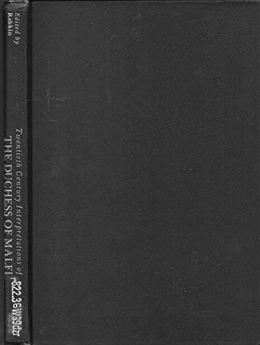 Twentieth Century Interpretations of The Duchess of: Rupert Brooke, T.