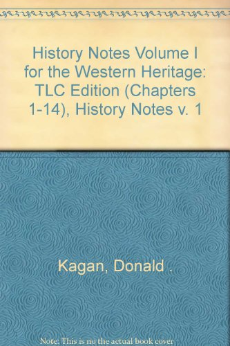 9780132211048: History Notes Volume I