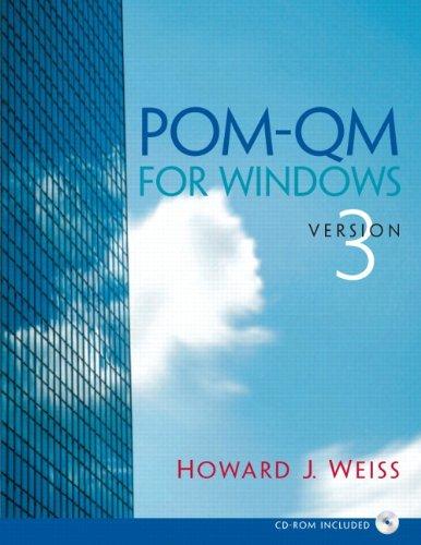 9780132219730: POM-Qm V 3 for Windows Manual and CD POM