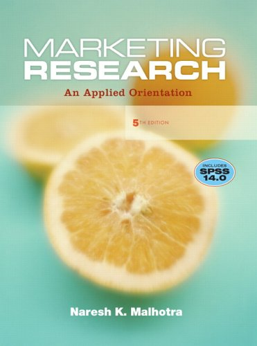 9780132221177: Marketing Research: An Applied Orientation (5th Edition)