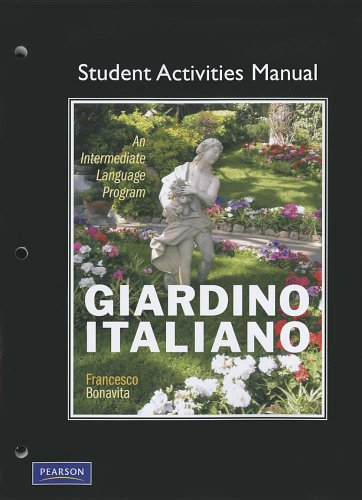 9780132226158: Student Activities Manual for Giardino italiano: An Intermediate Language Program