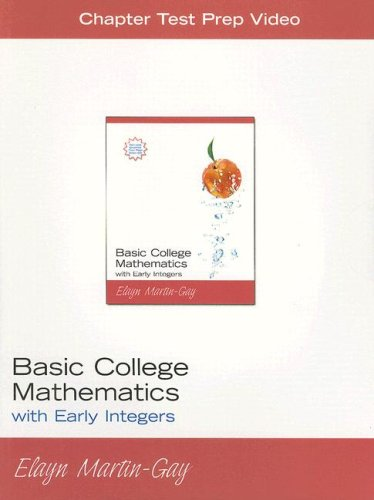 9780132227889: Basic College Mathematics: With Early Integers