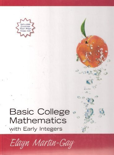 9780132230483: Basic College Mathematics Early Integers (Hard Cover) - Basic College Mathematics with E