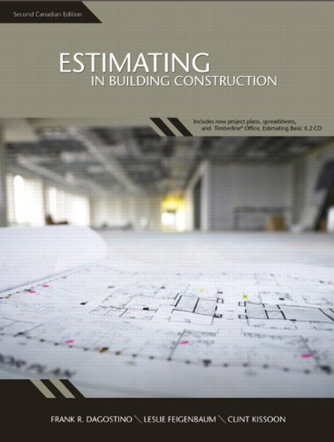 9780132231374: Estimating in Building Construction, Second Canadian Edition (2nd Edition)