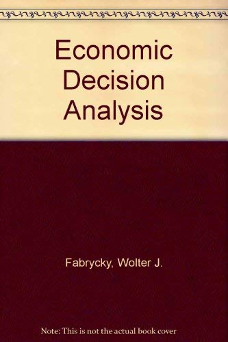 9780132232715: Economic Decision Analysis