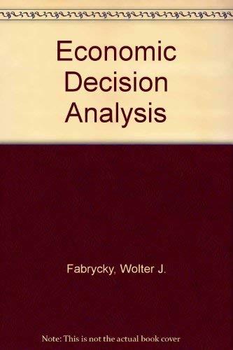 9780132232715: Economic Decision Analysis