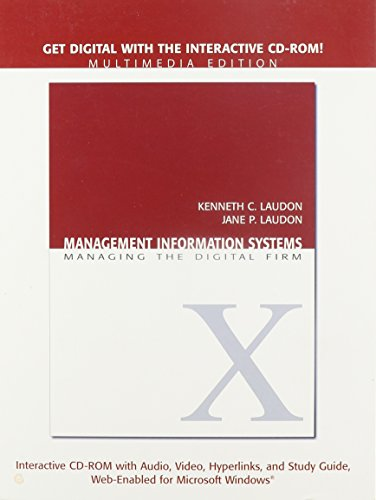 9780132234276: Management Information Systems: Student Multimedia CD-ROM: Managing the Digital Firm