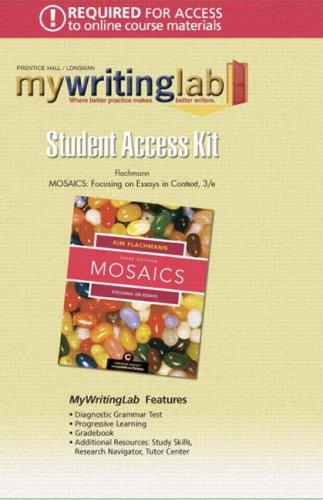 9780132236225: Mosaics: Focusing on Essays