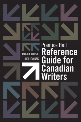 9780132237673: Prentice Hall Reference Guide for Canadian Writers [Spiral-bound]