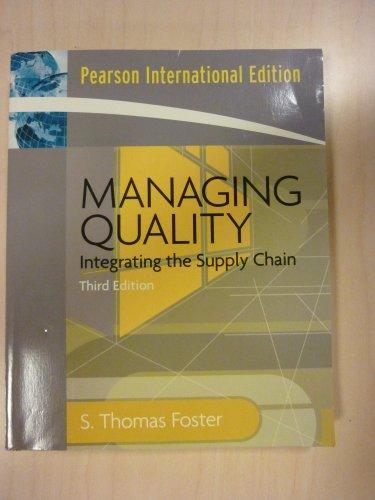 9780132239967: Managing Quality