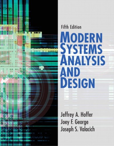 9780132240765: Modern Systems Analysis and Design (5th Edition)