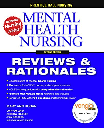9780132240772: Prentice Hall Reviews and Rationales: Mental Health Nursing (Prentice Hall Nursing Reviews & Rationales)