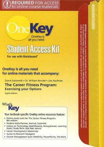 9780132241014: The OneKey BlackBoard, Student Access Kit, The Career Fitness Program for Career Fitness Program: Exercising your Options