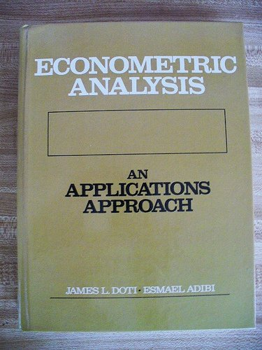 9780132241069: Econometric Analysis: An Applications Approach
