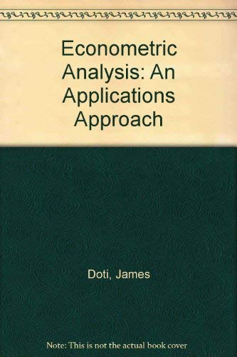 9780132241144: Econometric Analysis With Microtsp Student Software: An Applications Approach