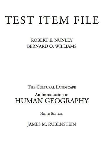 9780132243636: Test Item File (The Cultural Landscape An Introduction To Human Geography)