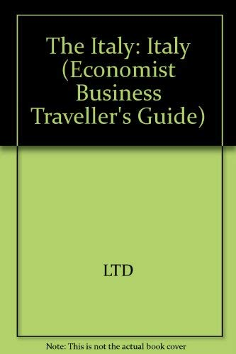 9780132244787: Italy (Economist Business Traveller's Guide)