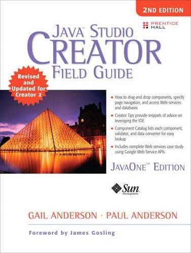 9780132254601: Java Studio Creator: Field Guide