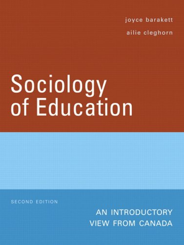 9780132255493: Sociology of Education: An Introductory View from Canada (2nd Edition)