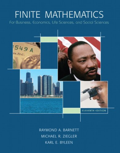 9780132255707: Finite Mathematics for Business, Economics, Life Sciences and Social Sciences, 11th Edition